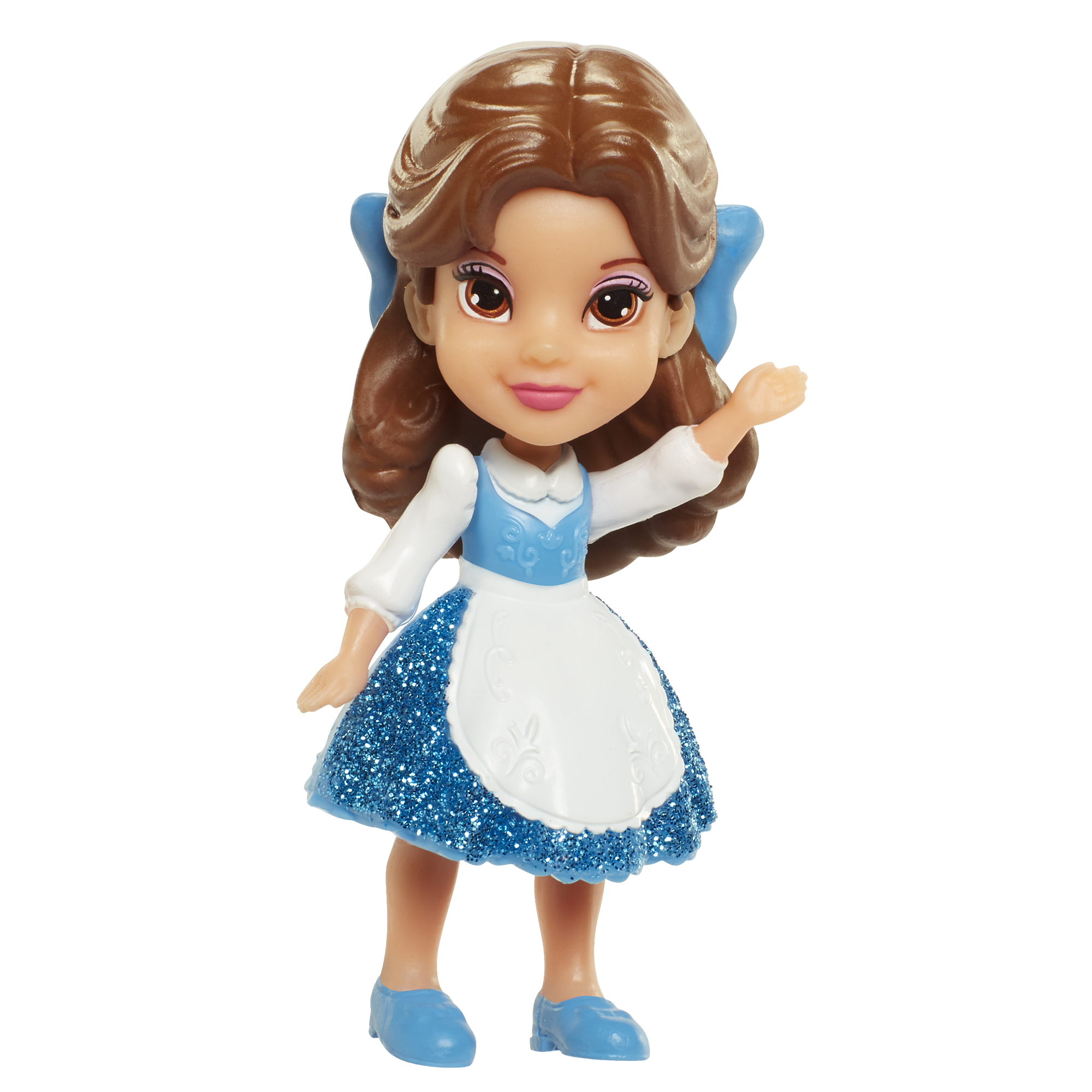 Belle 3 inch Mini Doll (Blue Dress) Disney Princess