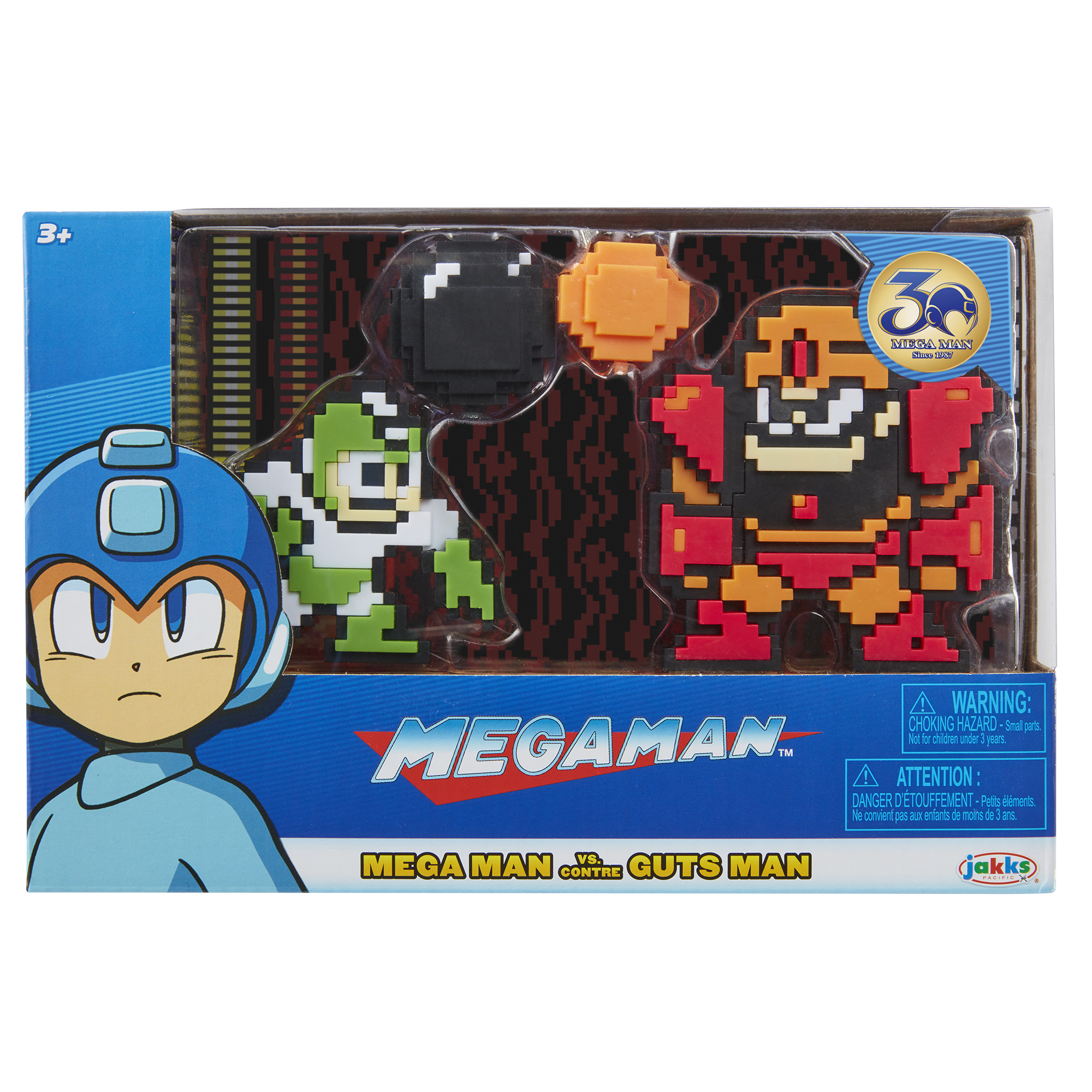Mega Man - Green/White Mega Man v Guts Man