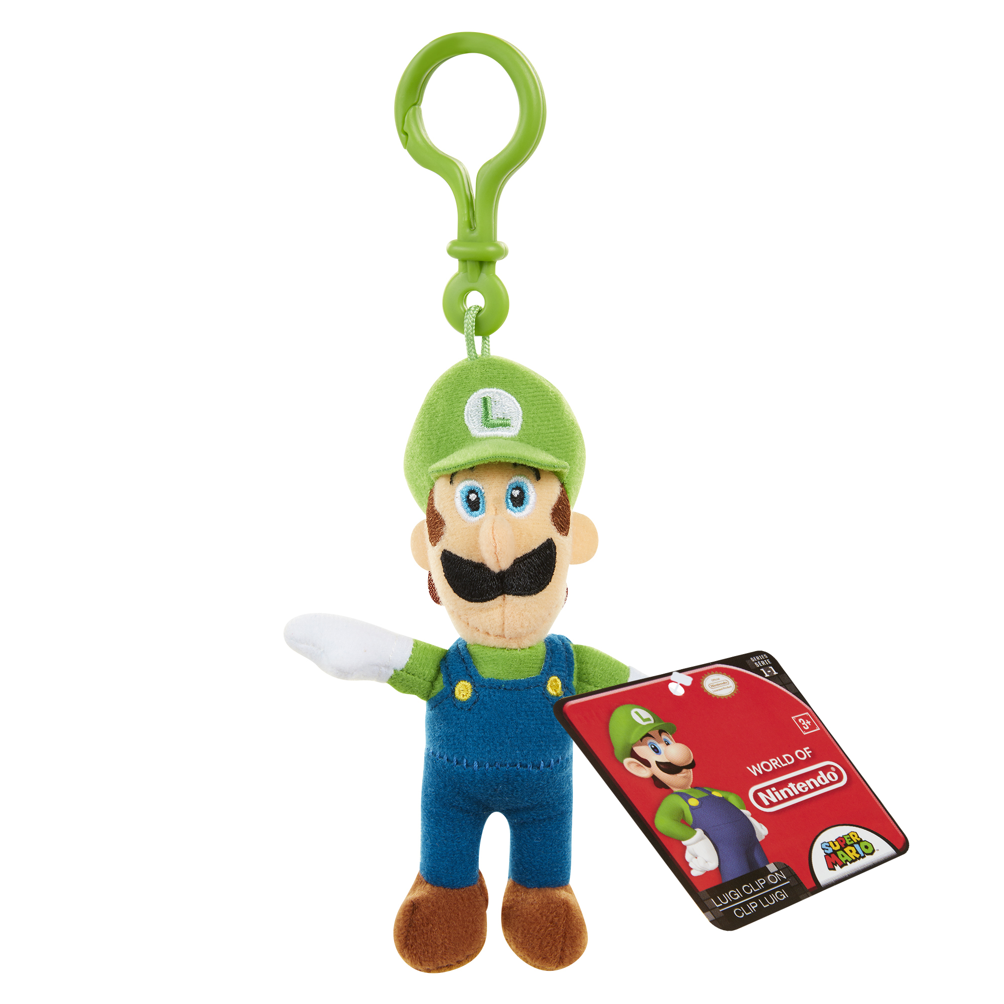 Super Mario Plush Hangers Wave 2 Luigi