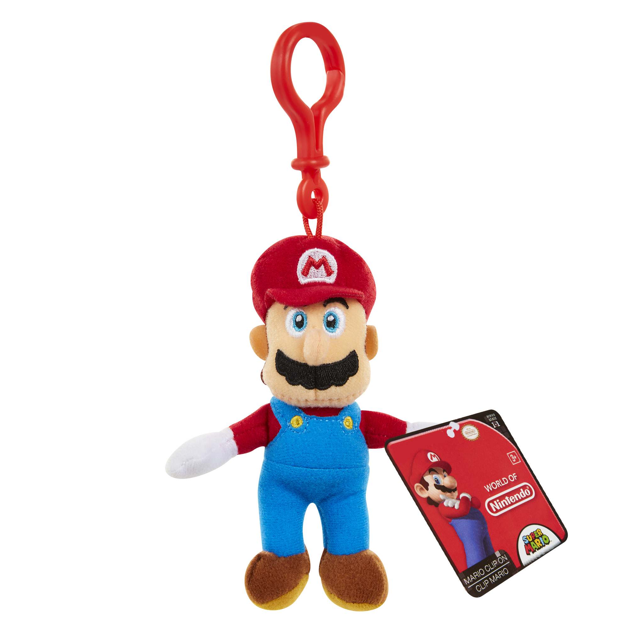 Super Mario Plush Hangers Wave 2 Mario