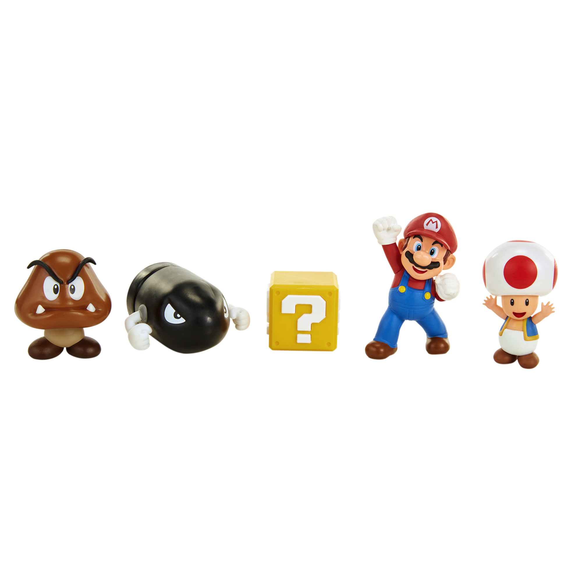 Super Mario 2.5 5 Figure Mario Acorn Plains Figure Set