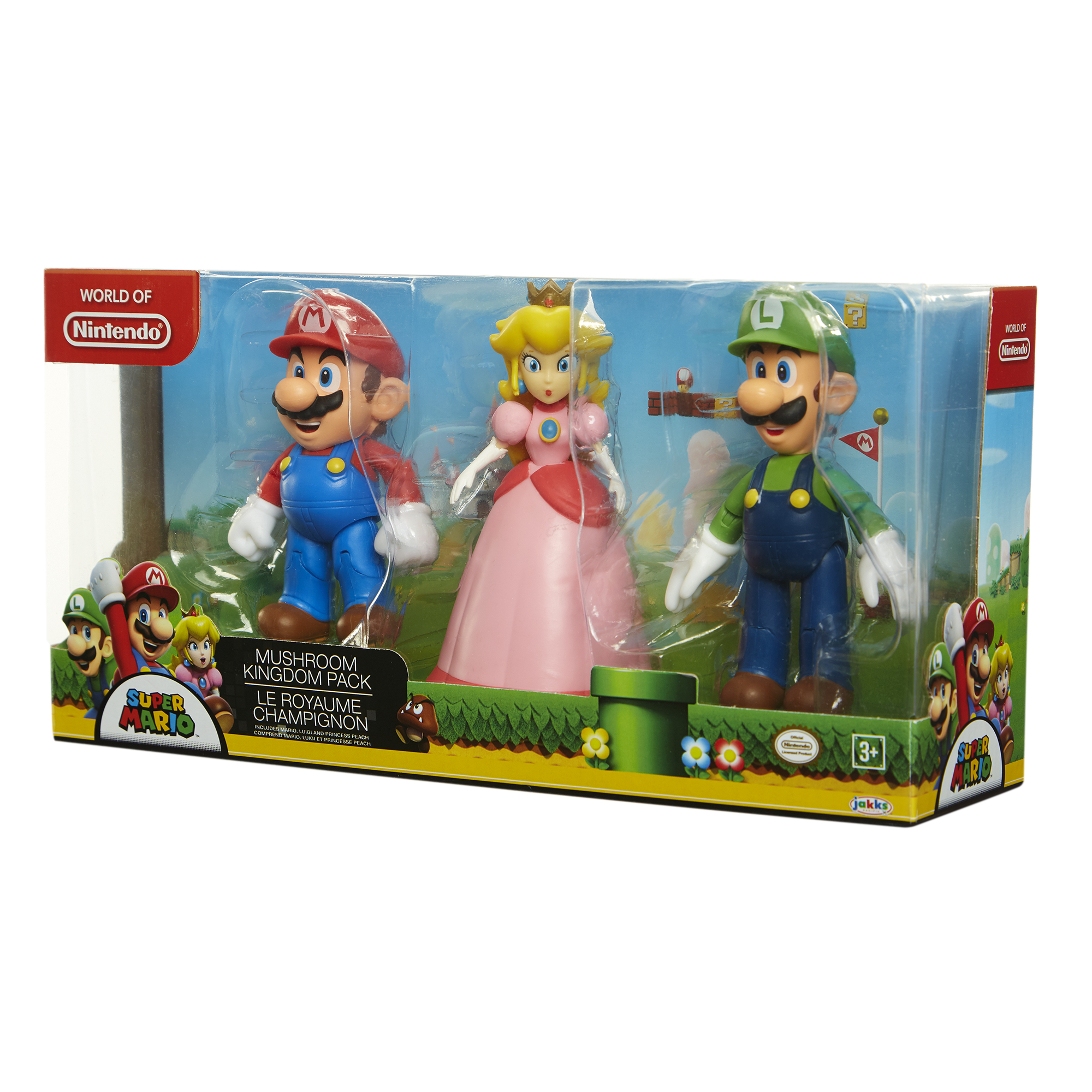 "Super Mario Mushroom Kingdom 4"" Figure 3-Pack"