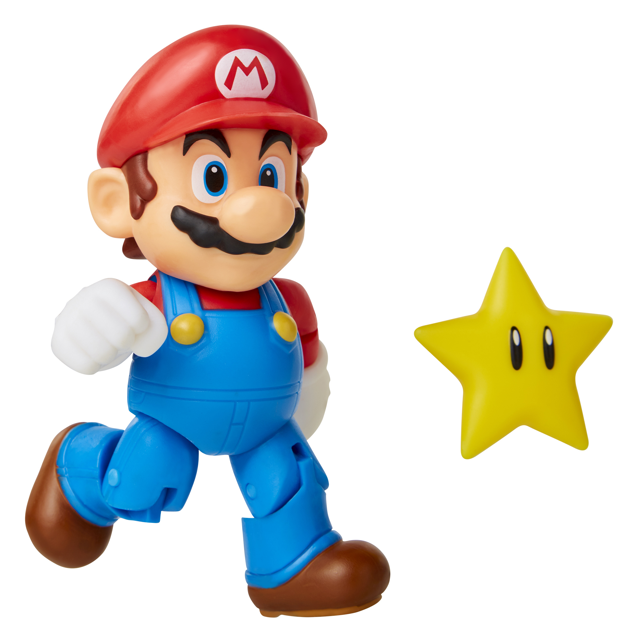 Super Mario 4 Figure Super Mario w/ Star Accessory