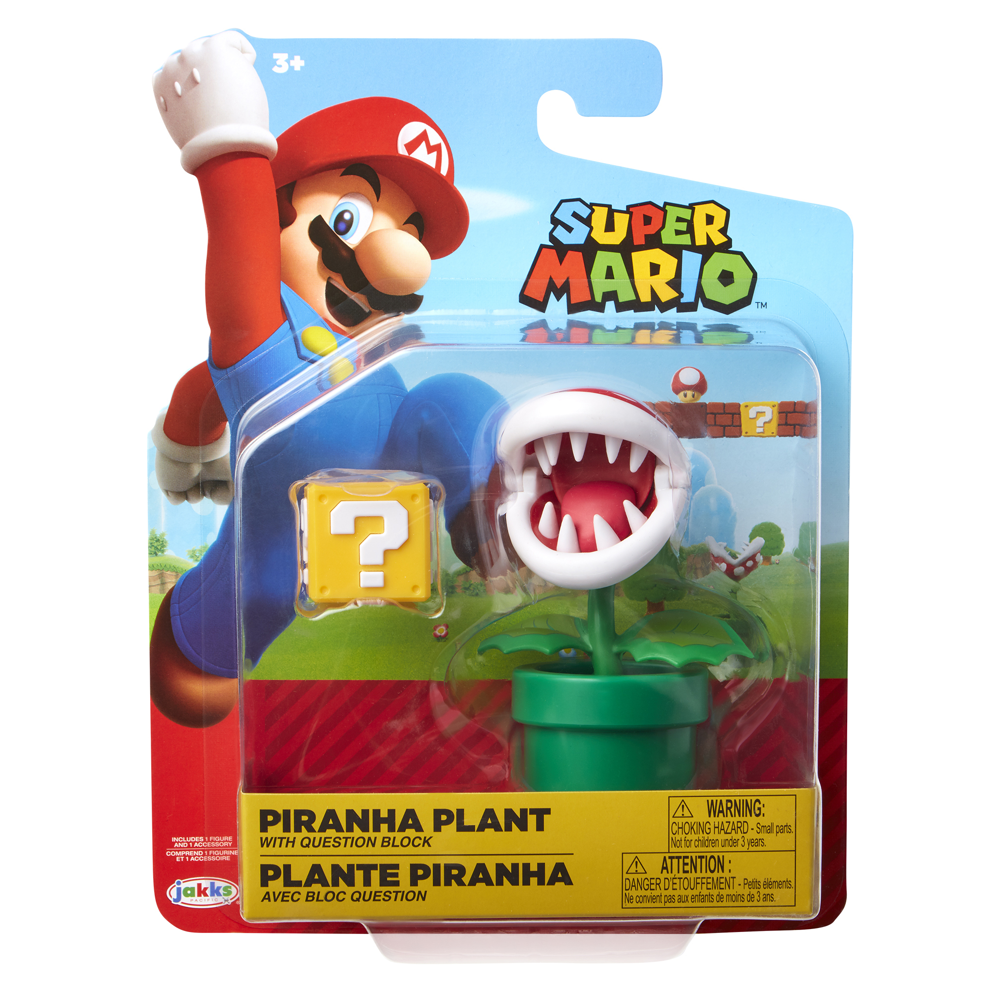 Super Mario 4 Figure Piranha Plant w/ Question Block