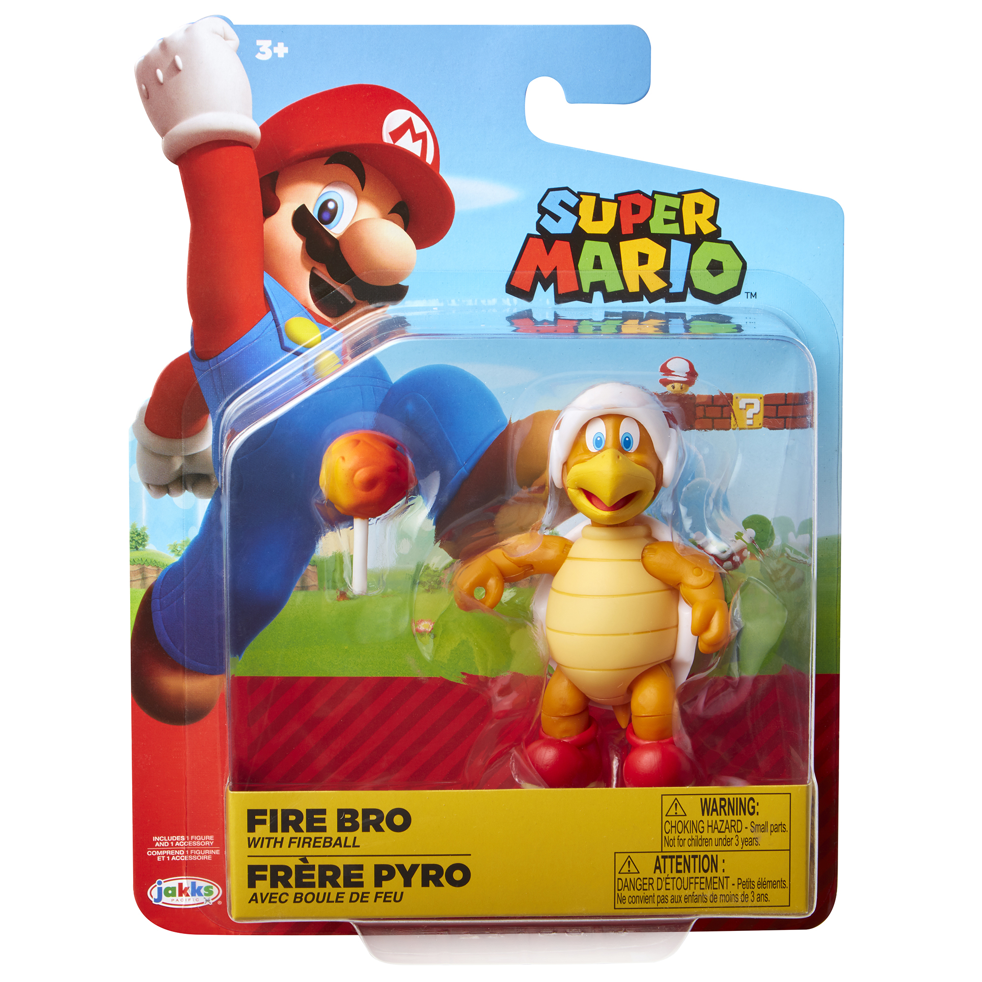 Super Mario 4 Figure Fire Hammer Bro w/ Fire Ball