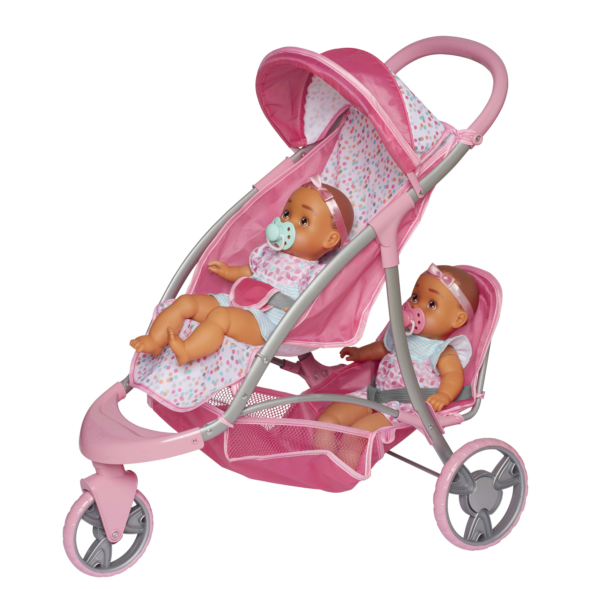 Perfectly Cute Baby Doll Double Stroller/Jogger