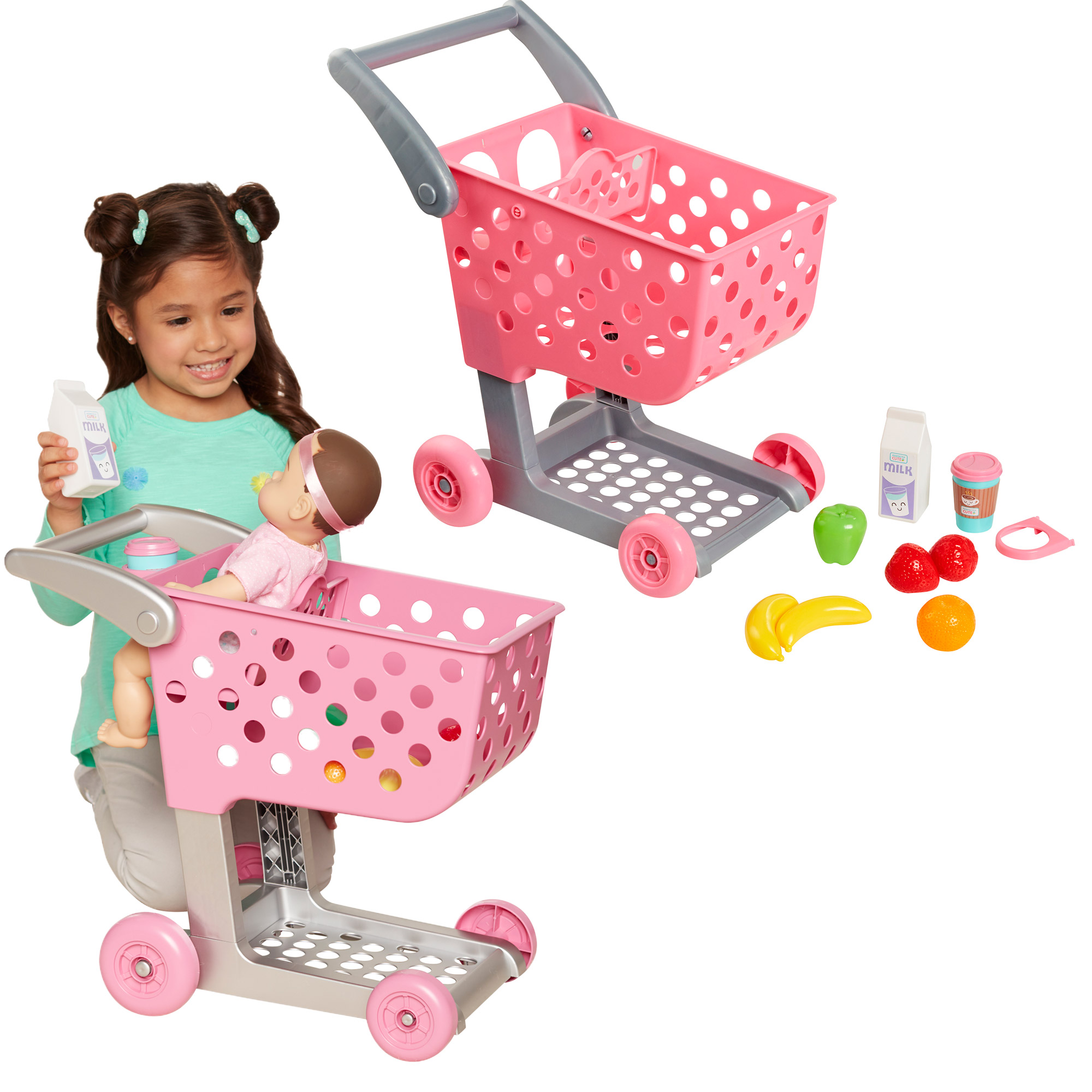 Perfectly Cute Home Shop & Go Grocery Cart