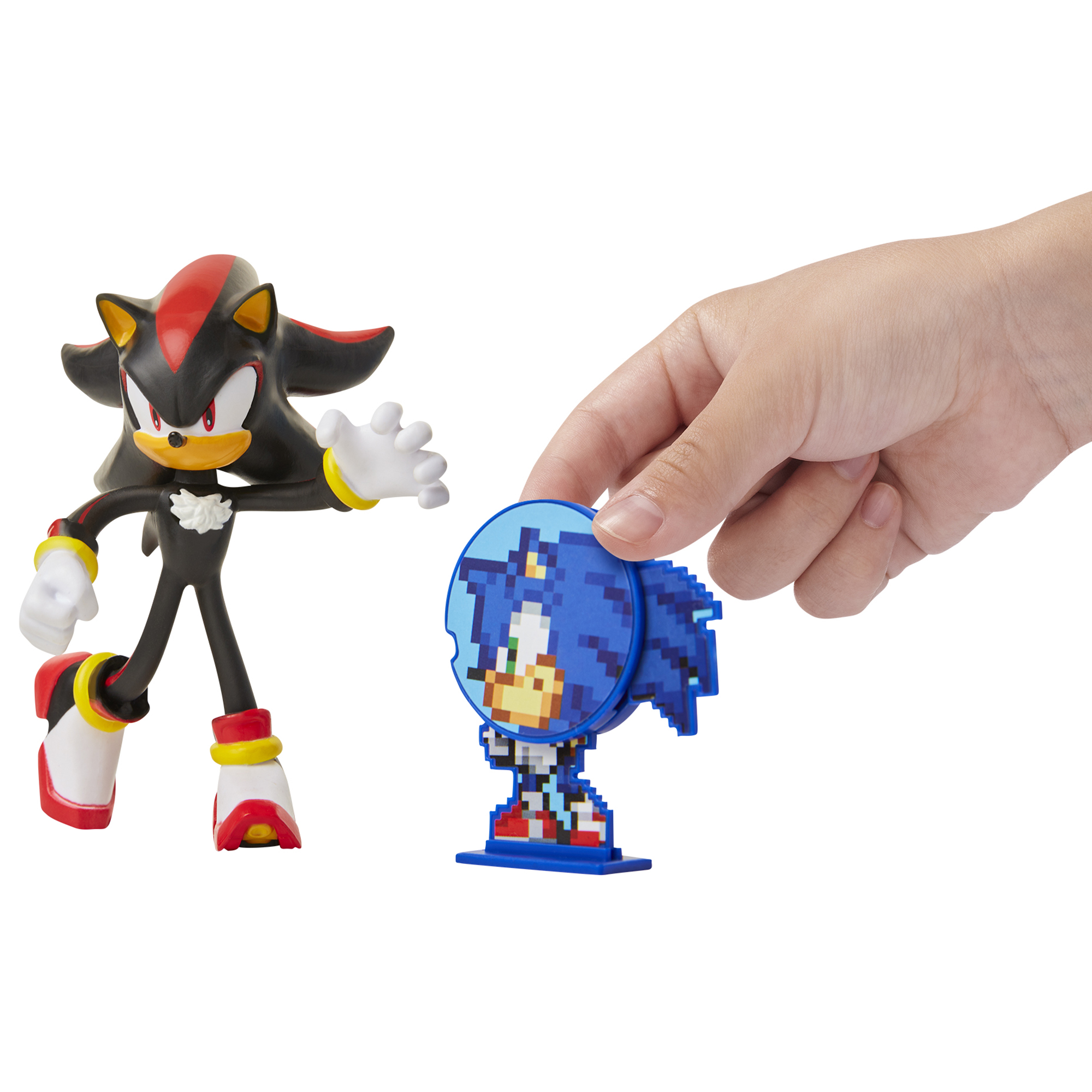 Sonic the Hedgehog - 4in Bendable Action Figures w/ accessory Wave 1 - Shadow